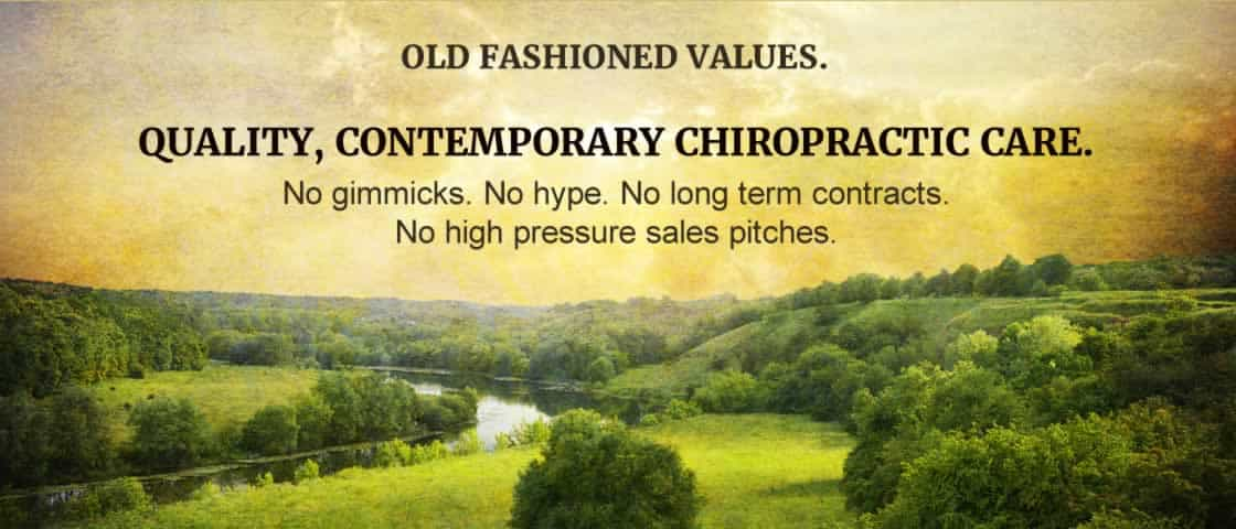 Contemporary Chiropractic with old fashioned values